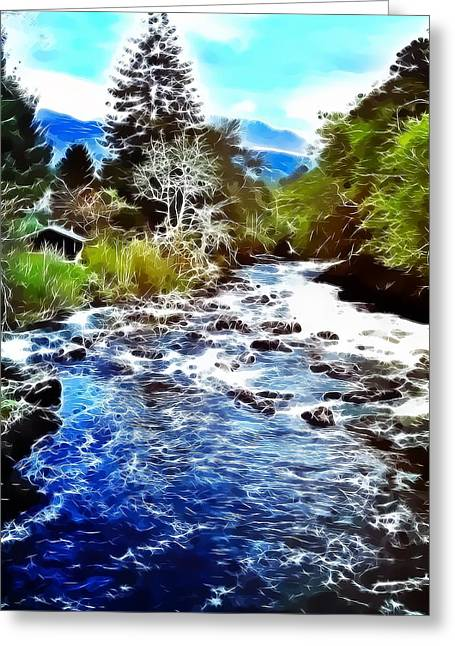 River Scenes Greeting Cards - The River Greeting Card by Tilly Williams