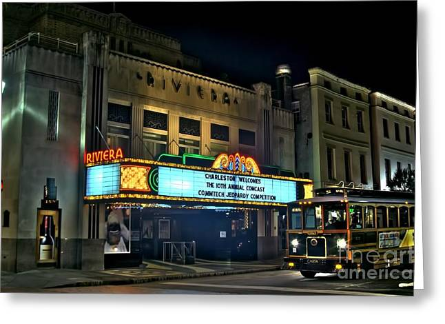Photographers College Park Greeting Cards - The Riveria Theater Greeting Card by Corky Willis Atlanta Photography