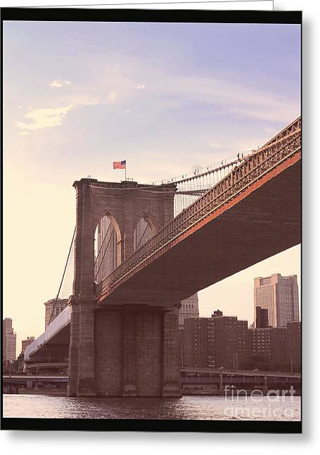 Famous Bridge Greeting Cards - The Road Home Greeting Card by Heidi Hermes