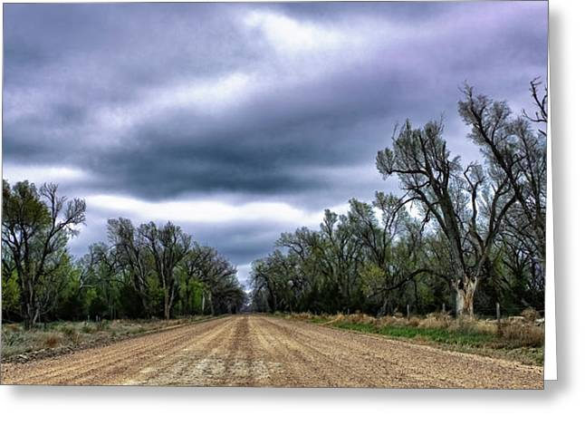 Middle Of Nowhere Greeting Cards - The Road Greeting Card by John K Sampson