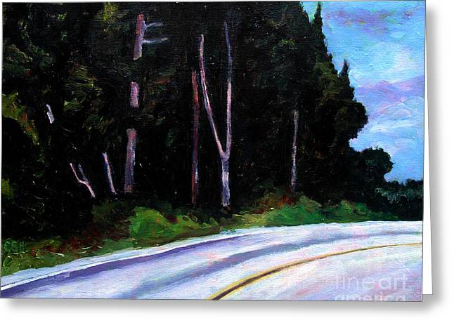 Road Travel Paintings Greeting Cards - The Road Less Taken Greeting Card by Charlie Spear