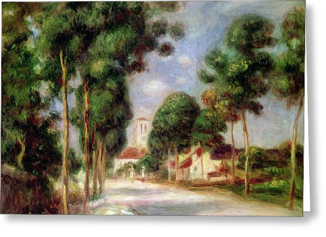 The Hills Greeting Cards - The Road to Essoyes Greeting Card by Pierre Auguste Renoir