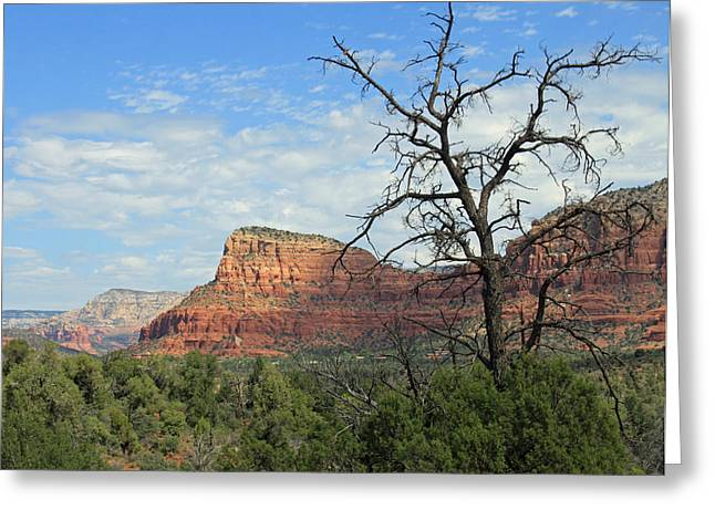 Sedona Mountains Greeting Cards - The Road to Sedona Greeting Card by Lauri Novak