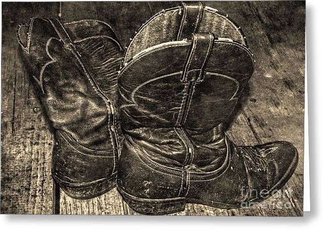 Riding Boots Digital Art Greeting Cards - The Roads They Led Me Down Greeting Card by James Brooker