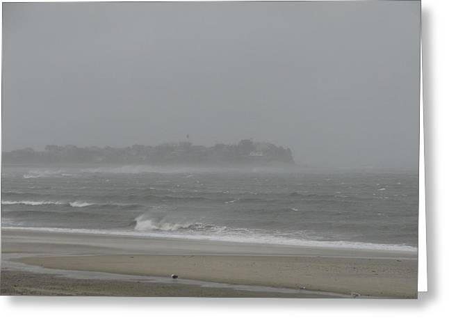Best Sellers -  - Storm Clouds Cape Cod Greeting Cards - The Rock Greeting Card by Brian Mazzoli
