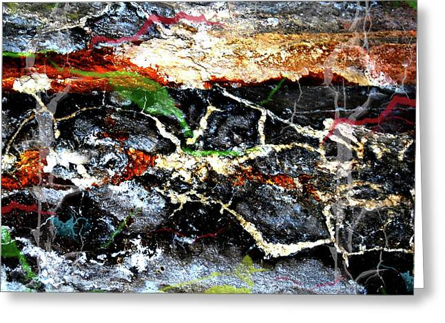 Abstract Digital Photographs Greeting Cards - The Rock Greeting Card by Jerry Cordeiro