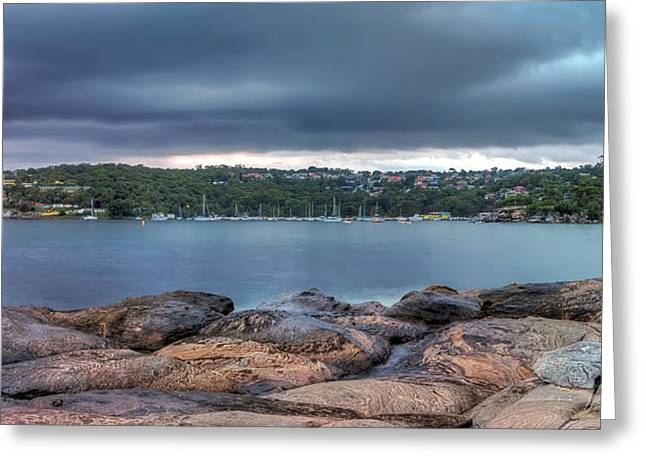 Balmoral Greeting Cards - The Rocks of Hunter Bay Greeting Card by Mark Lucey