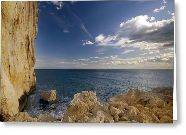 Costa Blanca Greeting Cards - The Rocky Coast Greeting Card by Angel  Tarantella
