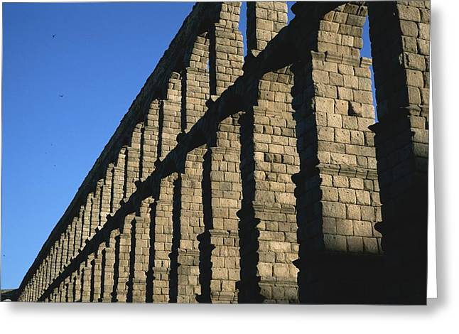 Antiquities And Artifacts Greeting Cards - The Roman-built aqueduct Greeting Card by Taylor S. Kennedy