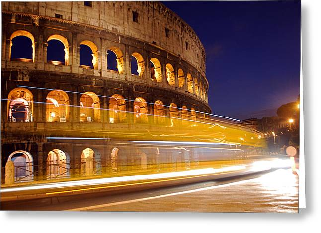 Jeka World Photography Greeting Cards - The Roman Colosseum Greeting Card by Jeff Rose