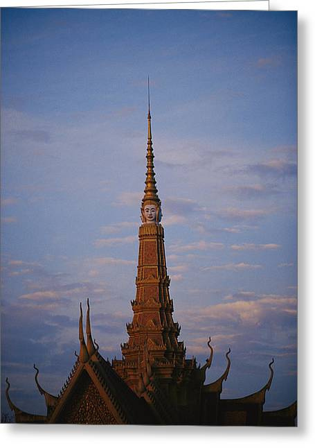 Indochinese Architecture And Art Greeting Cards - The Roof Of The Royal Palace Greeting Card by Steve Raymer
