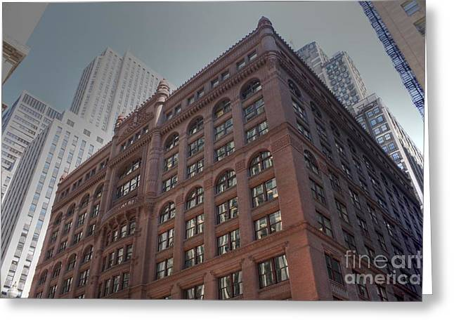 Lasalle Street Greeting Cards - The Rookery Building Greeting Card by David Bearden