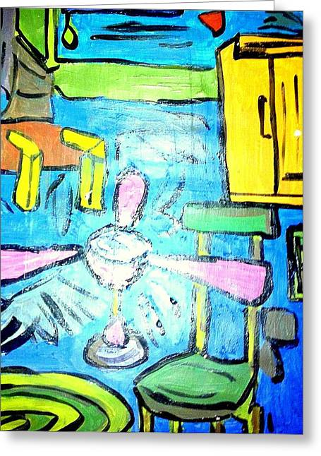 Are Plane Greeting Cards - The Room - Acrylic on Paper  Greeting Card by Sebastian Joseph