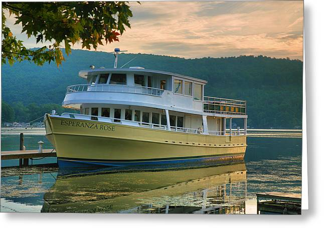 Finger Lakes Greeting Cards - The Rose At Dock Greeting Card by Steven Ainsworth
