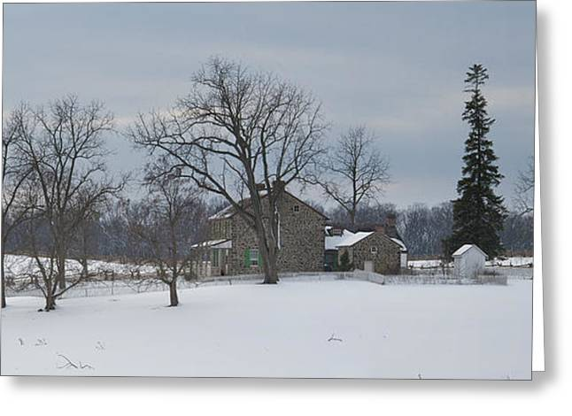Winter Scenes Rural Scenes Greeting Cards - The Rose Farm In The Snow At Gettysburg Greeting Card by Greg Dale