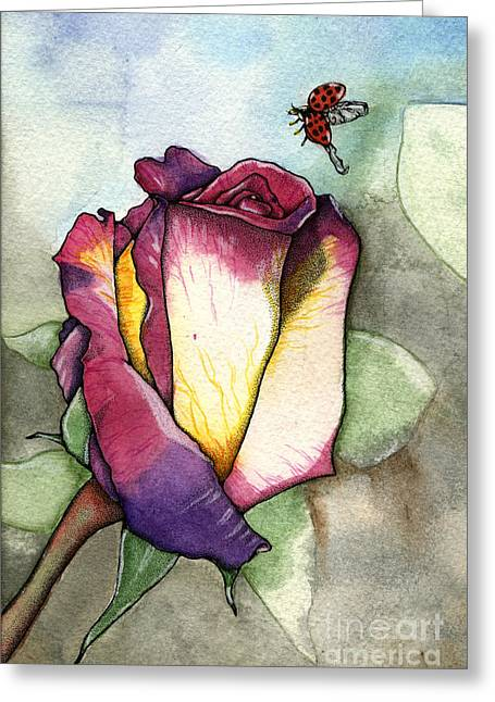 Nora Blansett Greeting Cards - The Rose Greeting Card by Nora Blansett
