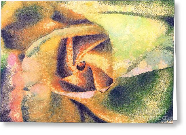 Best Sellers -  - Gold Lame Greeting Cards - The rose Greeting Card by Odon Czintos