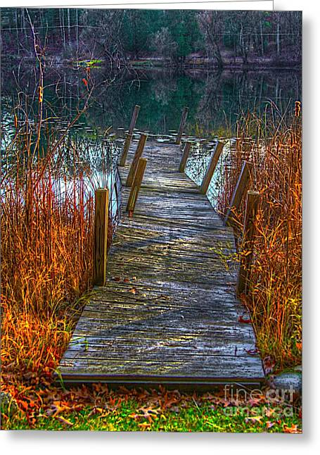 Scenic Artwork Greeting Cards - The rotten pathway Greeting Card by Robert Pearson
