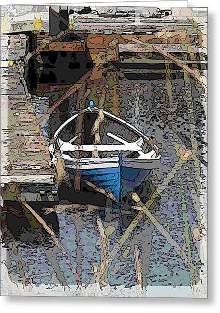 Lake Union Greeting Cards - The Rowboat Greeting Card by Tim Allen