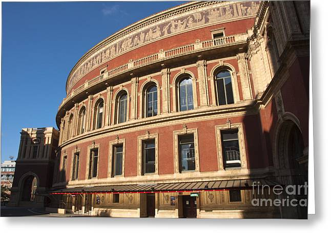 Outdoor Theater Greeting Cards - The Royal Albert Hall Greeting Card by Andrew  Michael