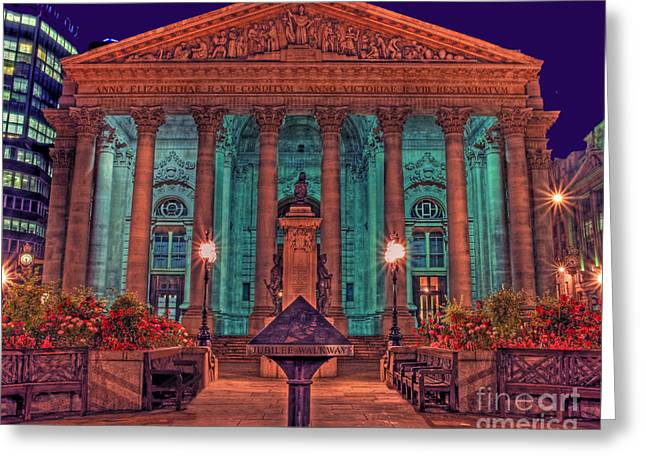 Stock Trading Greeting Cards - The Royal Exchange in The City London Greeting Card by Chris Smith