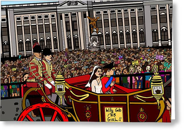 William And Kate Greeting Cards - The Royal wedding  Greeting Card by Karen Elzinga