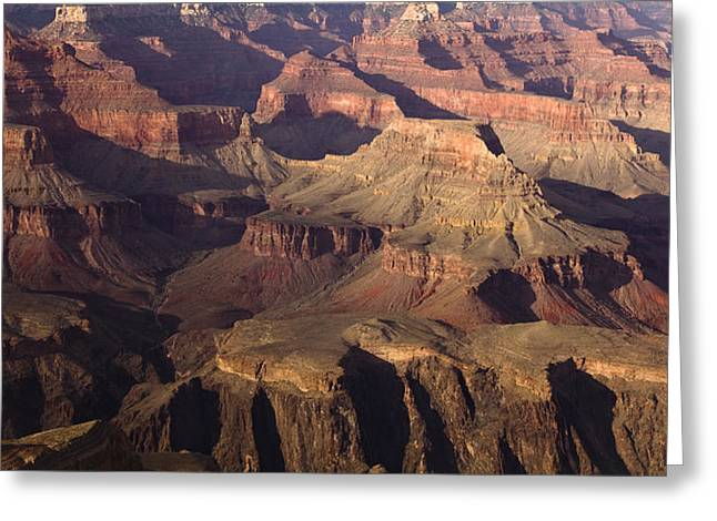 South Rim Greeting Cards - The Rugged Grand Canyon Greeting Card by Andrew Soundarajan