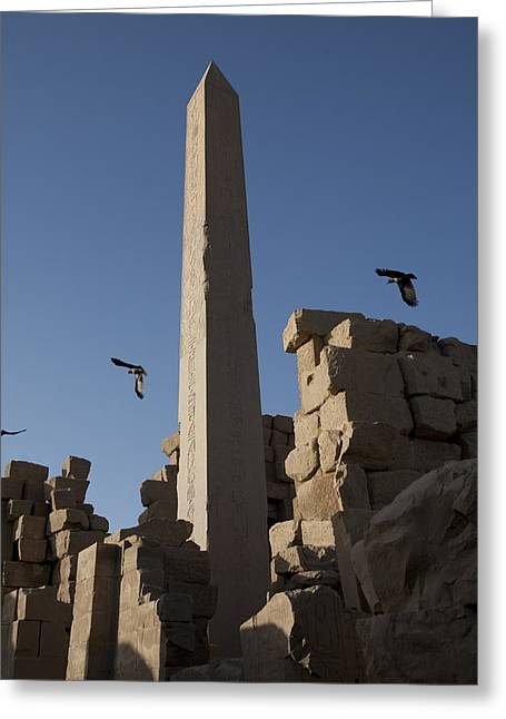 Pharaoh Greeting Cards - The Ruins Of Karnak Temple Greeting Card by Taylor S. Kennedy