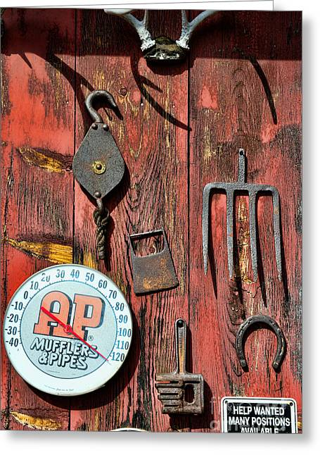 Ap Greeting Cards - The Rusty Barn - Farm Art Greeting Card by Paul Ward