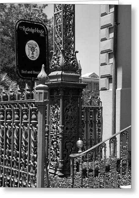 Entryway Greeting Cards - The Rutledge House Sign Greeting Card by Steven Ainsworth