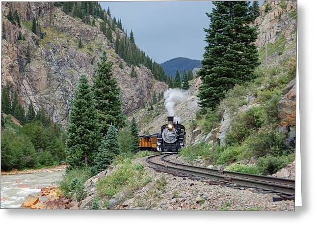Narrow Gauge Steam Train Greeting Cards - The S Curve Greeting Card by Ken Smith