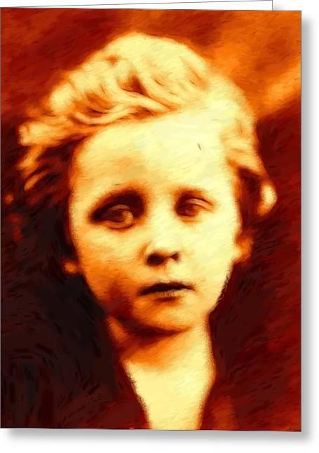 Boy Pastels Greeting Cards - The sad Boy Greeting Card by Stefan Kuhn