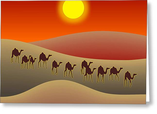 Sahara Sunlight Greeting Cards - Sahara Greeting Card by Walter Oliver Neal
