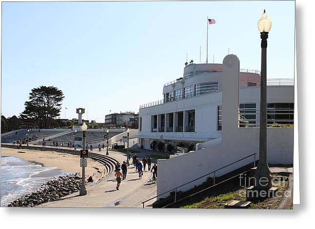 Burton Greeting Cards - The Sala Burton Building . Maritime Museum . San Francisco California . 7D13993 Greeting Card by Wingsdomain Art and Photography