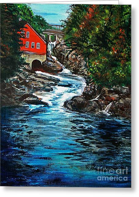 Salmon Paintings Greeting Cards - The Salmon Run Greeting Card by Patricia L Davidson