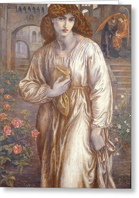Neo Greeting Cards - The Salutation  Greeting Card by Dante Charles Gabriel Rossetti