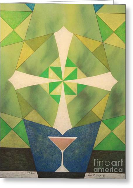 Abstract Geometric Pastels Greeting Cards - The Salute Greeting Card by Richard Van Order