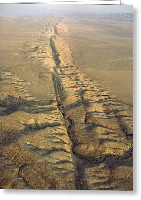 Fault Greeting Cards - The San Andreas Fault Slashes Greeting Card by James P. Blair