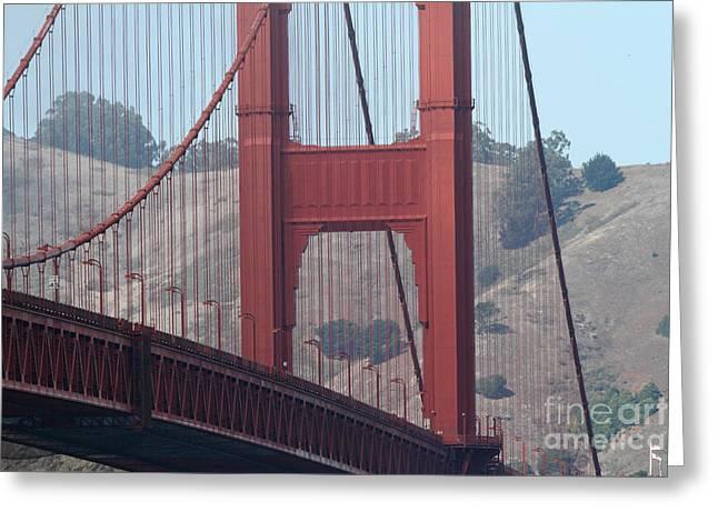 Vertigo Greeting Cards - The San Francisco Golden Gate Bridge - 7D19057 Greeting Card by Wingsdomain Art and Photography
