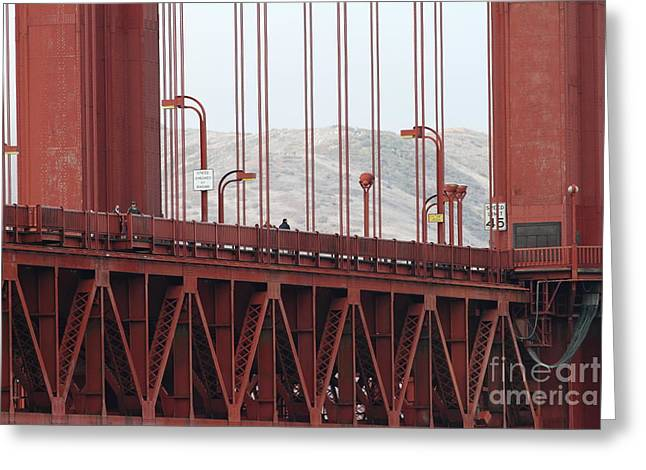 Vertigo Greeting Cards - The San Francisco Golden Gate Bridge - 7D19060 Greeting Card by Wingsdomain Art and Photography