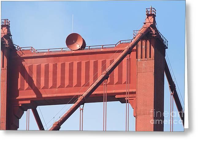 Vertigo Greeting Cards - The San Francisco Golden Gate Bridge - 7D19108 Greeting Card by Wingsdomain Art and Photography