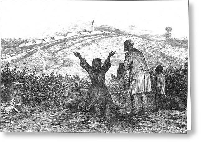 Slaves Greeting Cards - The Sanctuary, 1876 Greeting Card by Photo Researchers