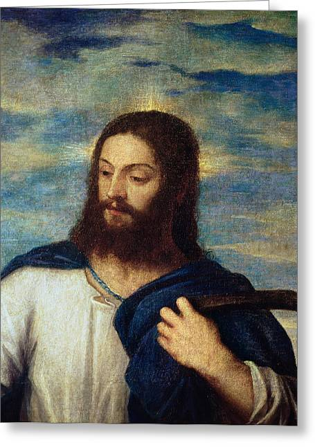 Resurrected Lord Greeting Cards - The Savior Greeting Card by Titian