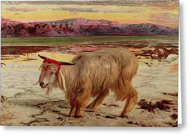 1854 Greeting Cards - The Scapegoat Greeting Card by William Holman Hunt