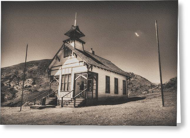 School Houses Greeting Cards - The School House 3 Greeting Card by Jessica Velasco
