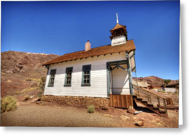 School Houses Greeting Cards - The School House 4 Greeting Card by Jessica Velasco