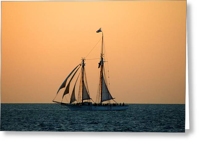 Boats In Water Photographs Greeting Cards - The Schooner America Greeting Card by Susanne Van Hulst