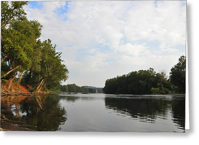 Schuylkill Digital Art Greeting Cards - The Schuylkill River at West Conshohocken Greeting Card by Bill Cannon