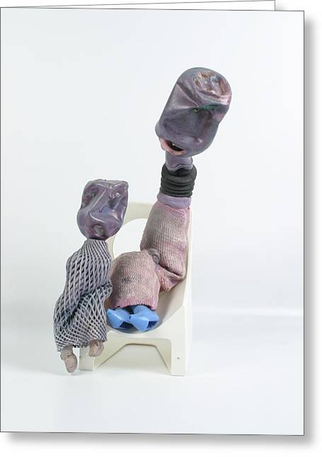 Lessons Sculptures Greeting Cards - The Scolding Greeting Card by Michael Jude Russo