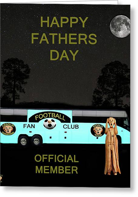 Official Member Mixed Media Greeting Cards - The Scream World Tour Football tour bus Fathers Day Greeting Card by Eric Kempson